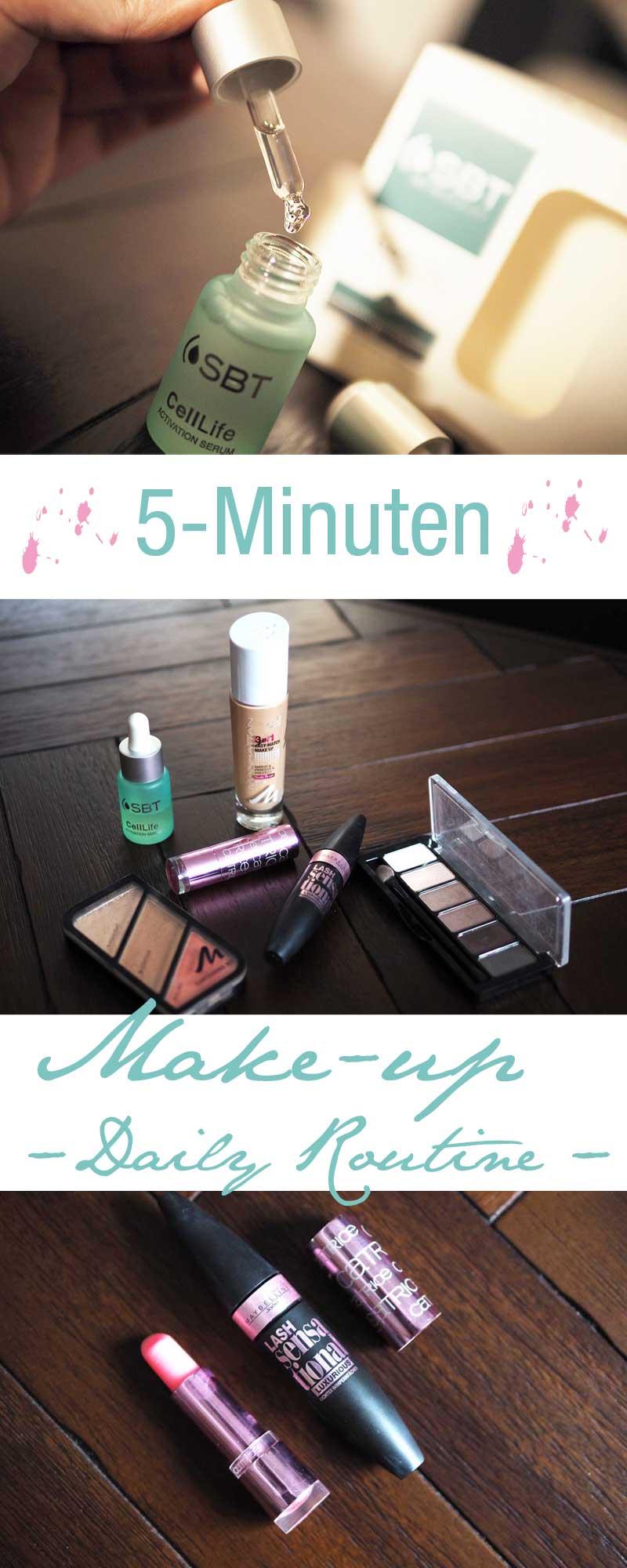 Beauty, Make-up, Make-up Routine, Beautyprodukte, Tages-Make-Up, Serum, Mascara, Rouge, Lippenstift,