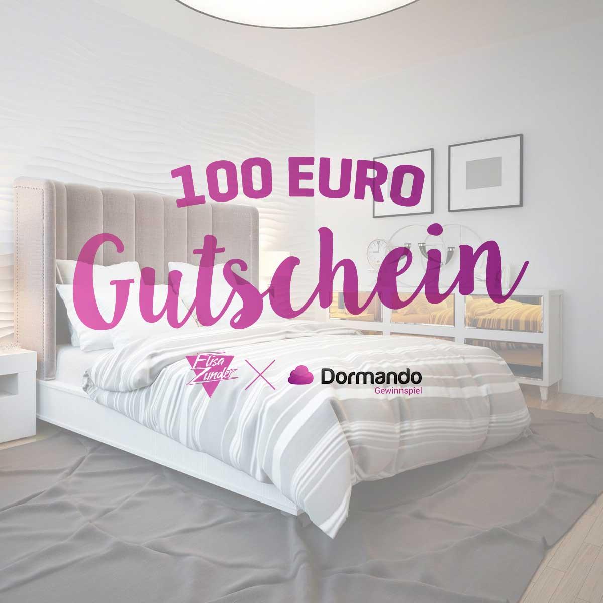 Gewinnspiel, Dormando, Gutschein, Gewinn. 100 Euro, Bett, Schlafzimmer, Bettwäsche, Schlafen, Wohnen, Home & Interior