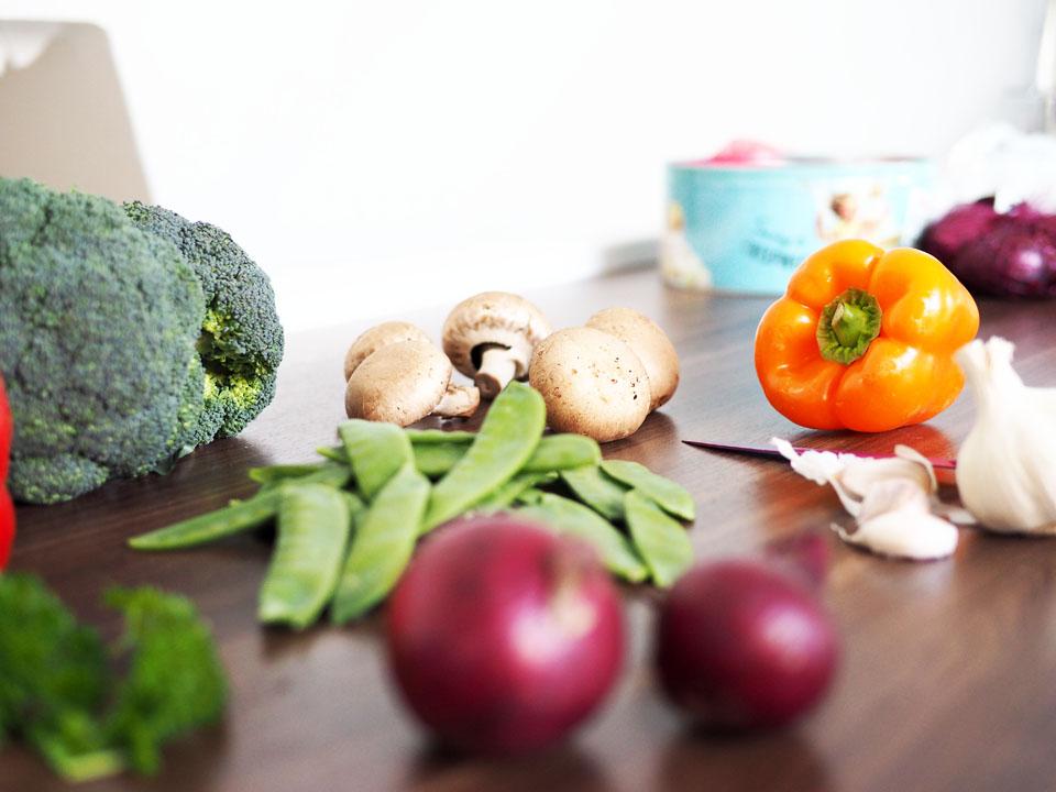 Rezept, Schnelle Küche, Gemüsepfanne, Essen, Kochen, Pfannengericht, Gericht, Hauptspeise, Ernährung, Gesund,