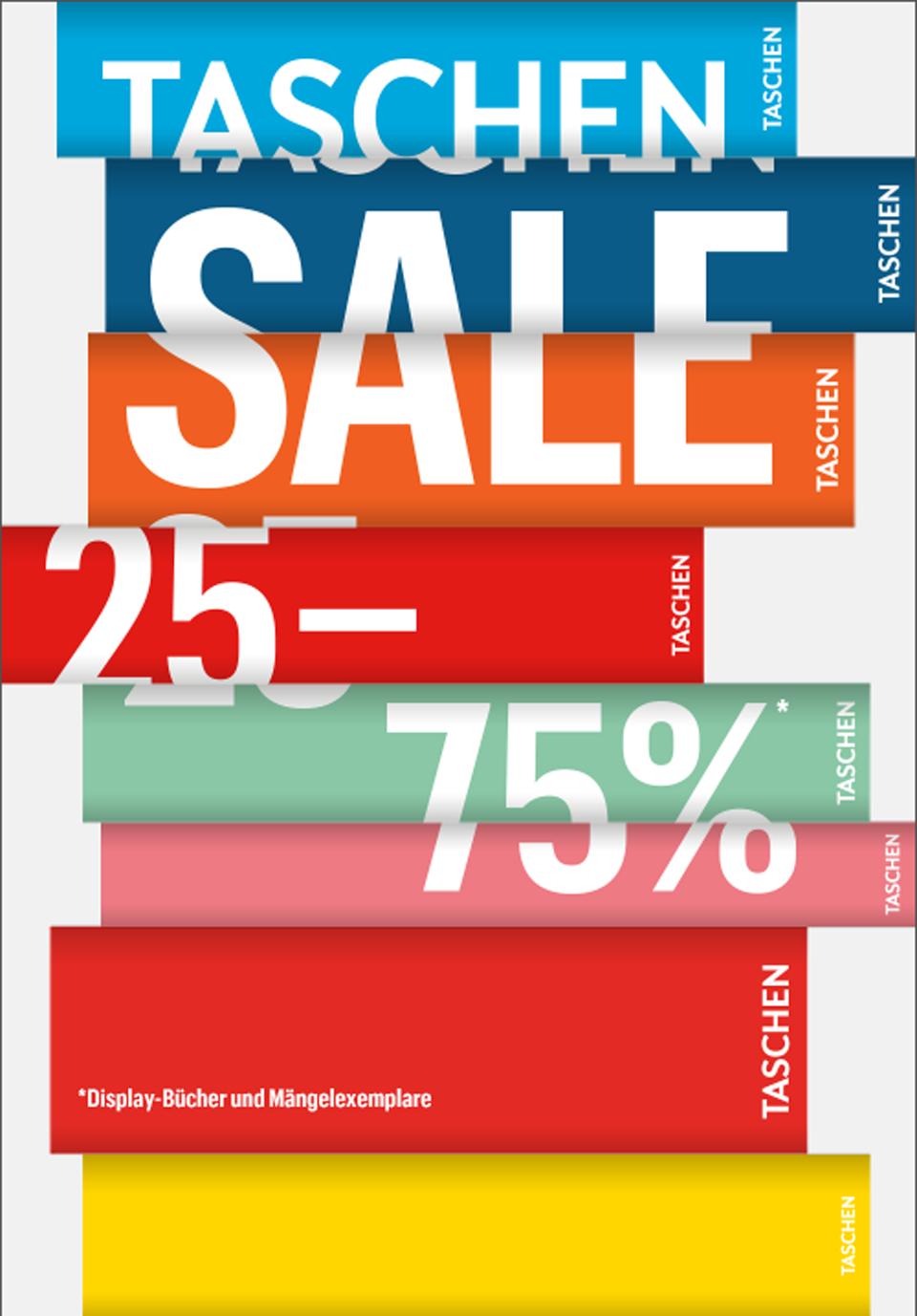 TASCHEN SALE Januar 2019, Sale beim TASCHEN Verlag, Rabatte auf Bücher und Bildbände, Schnäppchen für Bücherwürmer, Schäppchen für Buchliebhaber