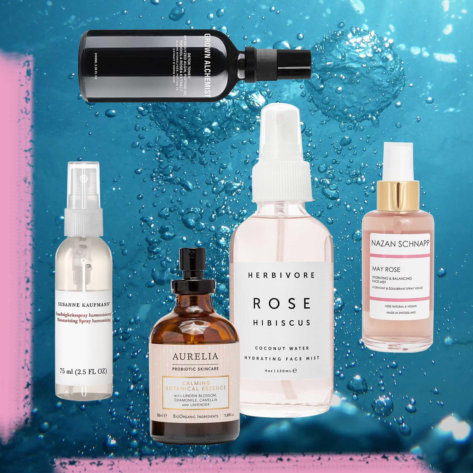erfrischende Gesichtssprays, Face Mist, Gesichtspflege, Feuchtigkeit, Naturkosmetik, Hautpflege, Frische-Kick bei der Hitze, Abkühlung für die Haut, kühlende Gesichtssprays