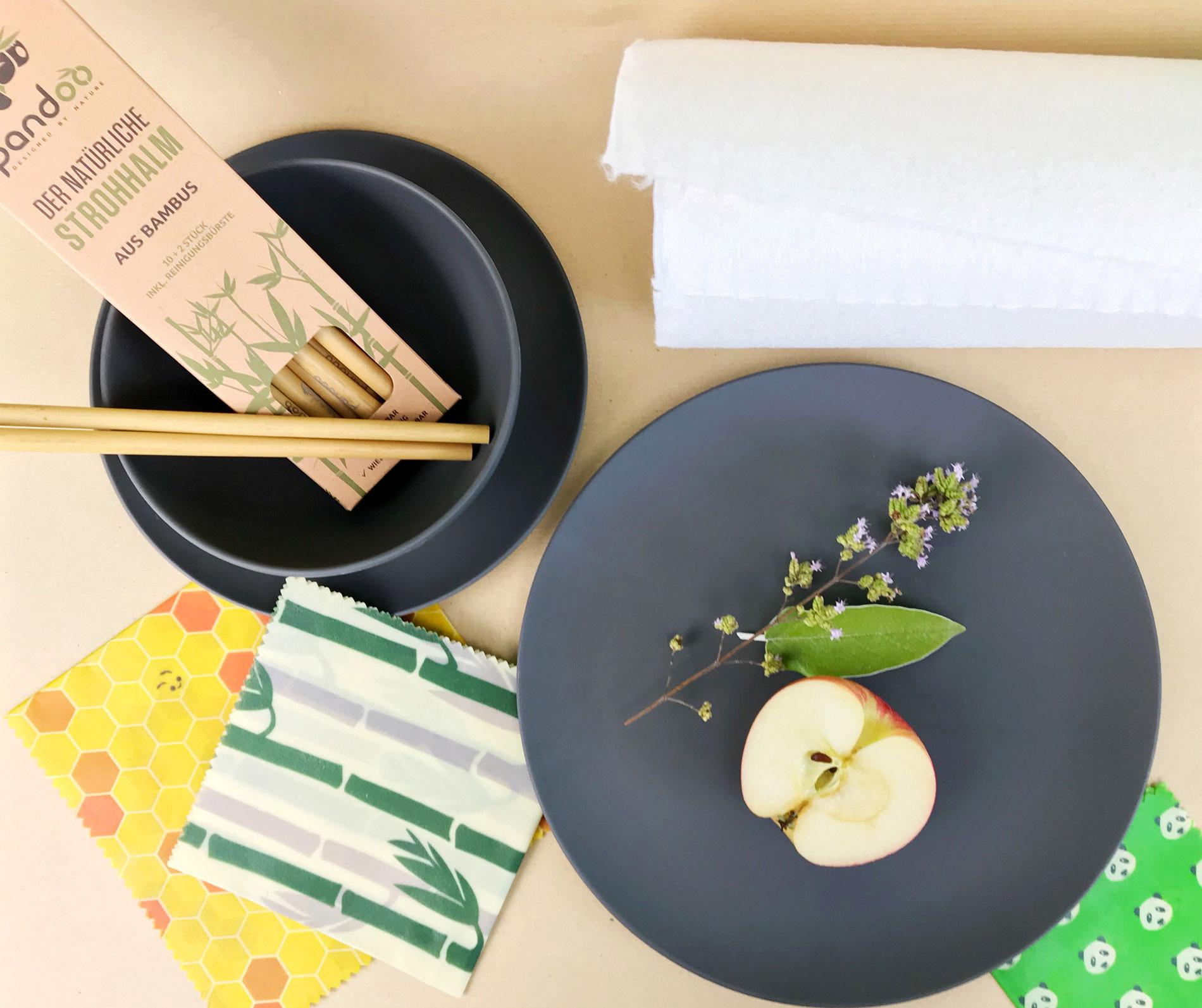 Low Waste und Nachhaltigkeit in der Küche, nachhaltige Küche, zero Waste, weniger Abfall produzieren, Bienenwachstücher, plastikfreie Alternativen für die Küche, Nachhaltigkeit in der Küche, Bambus Geschirr, Bienenwachstücher, Bambus Strohhalme,