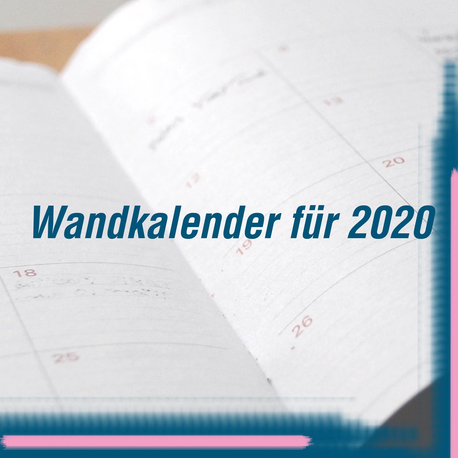 Wandkalender für 2020, Kalender 2020, Home, Interior, Wohlbefinden, To-Do's, To-Be's, Kalender für das neue Jahr, Wandkalender