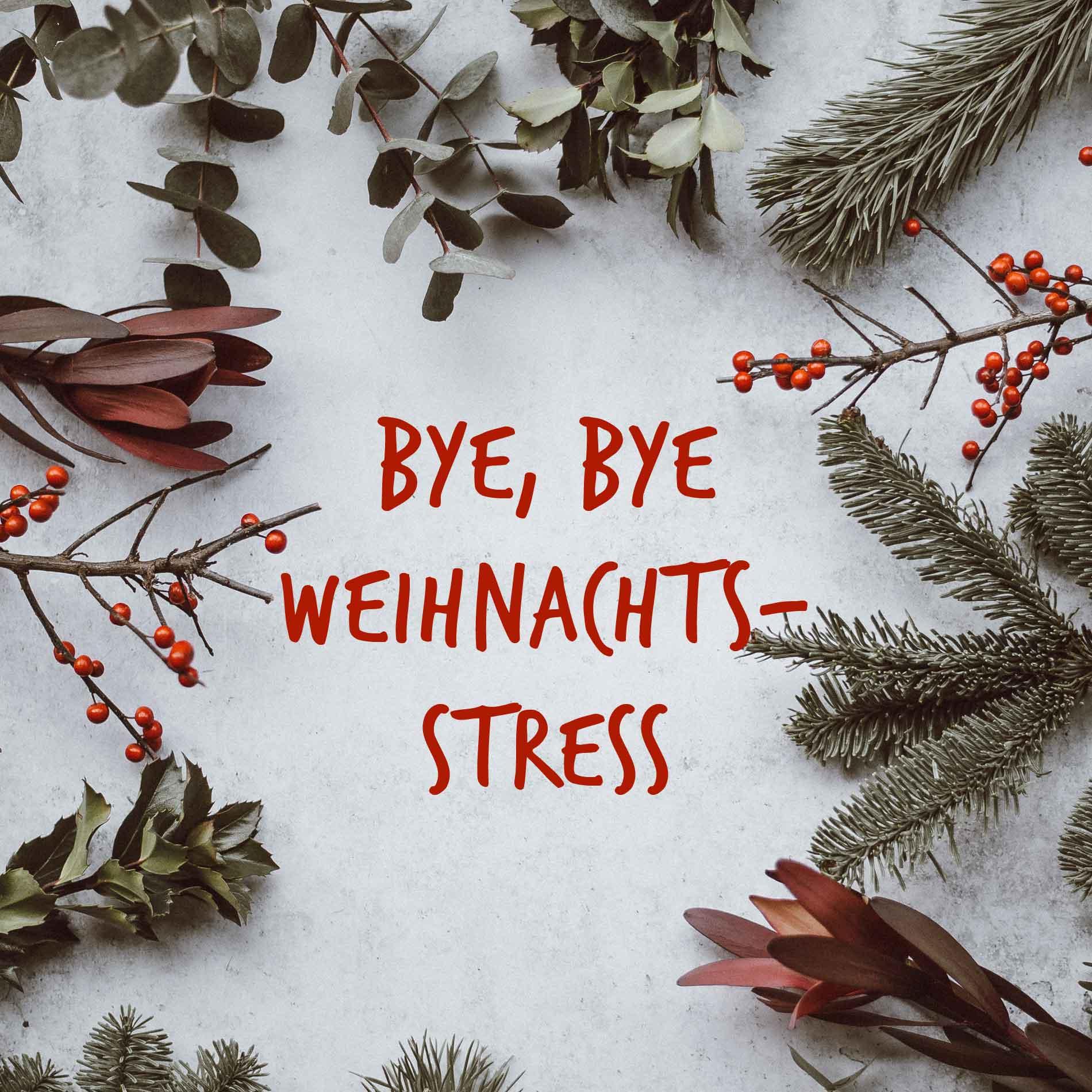 Bye, bye Weihnachtsstress, stressfreie Weihnachten, Tipps gegen Stress, Weihnachtzeit, entspannte Weihnachtszeit, Weihnachten genießen, Wohlfühlen, Wohlbefinden
