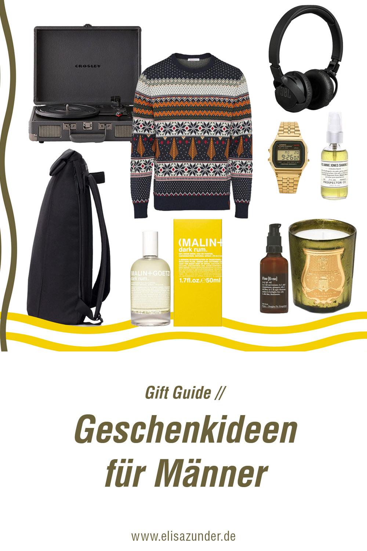 Geschenkideen für Männer, Gift Guide für Männer, Geschenke zu Weihnachten, Inspiration für Weihnachtsgeschenke, Geschenke für Männer,