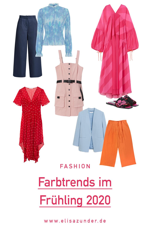 Farbtrends im Frühling, Modetrends, Trendfarben 2020, Classic Blue, Flame Orange, Trendfarben in Frühling und Sommer 2020, trendige Looks, Trendfarben im Jahr 2020