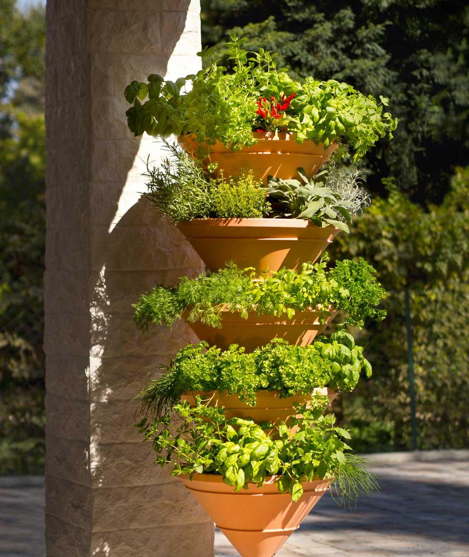 Vertikales Gärtnern, Turm-Hochbeet Vertical Garden, Gärtnern in die Höhe, intelligente Pflanzsysteme, Vertical Garden XL, vertikale Bepflanzung, Pflanzsäulen, vertikal Gärtnern Balkon