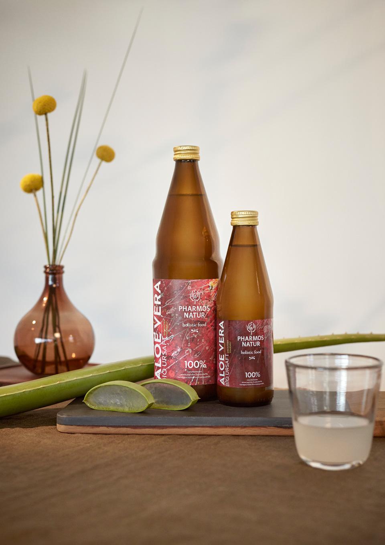 Pharmos Natur, Aloe Vera Bio Ursaft, Lebensgesundmittel. Holistic Food,